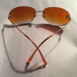 auth CHANEL rimless amber gradiant SUNGLASSES $499